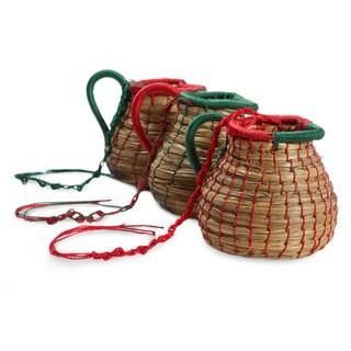 Set of 3 Pine Needle 'Chilasco Dreams' Ornaments (Guatemala)