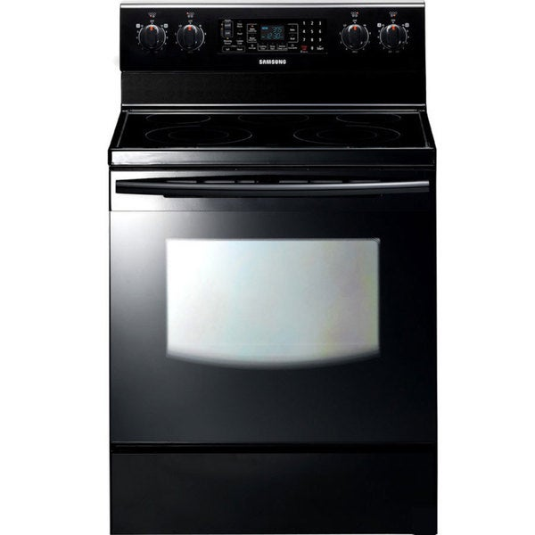 Samsung FTQ353IWUB Freestanding Black Electric Range