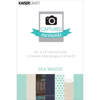 """Captured Moments Double-Sided Cards 6""""X4"""" 30/Pkg-Sea Breeze"""