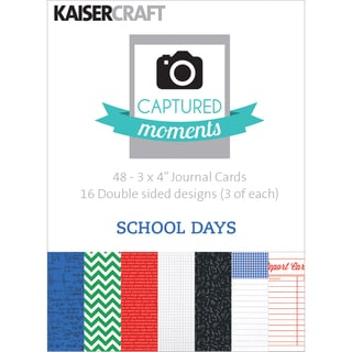 """Captured Moments Double-Sided Cards 3""""X4"""" 48/Pkg-School Days"""