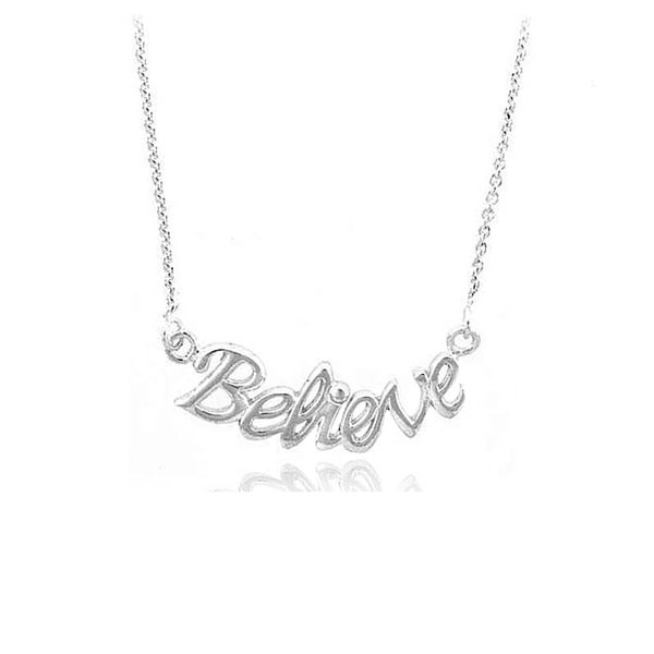 Mondevio Silver Believe Necklace