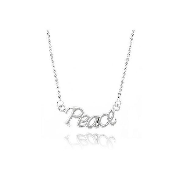 Mondevio Silver Peace Necklace