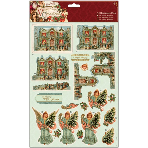 Papermania Victorian Christmas A4 Decoupage Pack-House