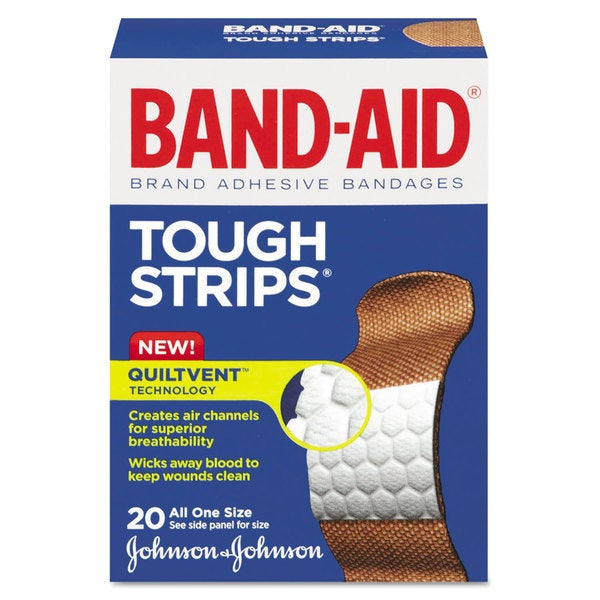 Flexible Fabric Adhesive Tough Strip Bandages 20-Piece