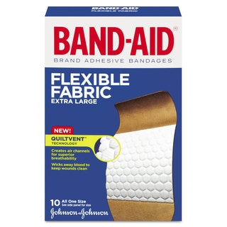 Flexible Fabric Extra Large Adhesive Bandages 10-Piece