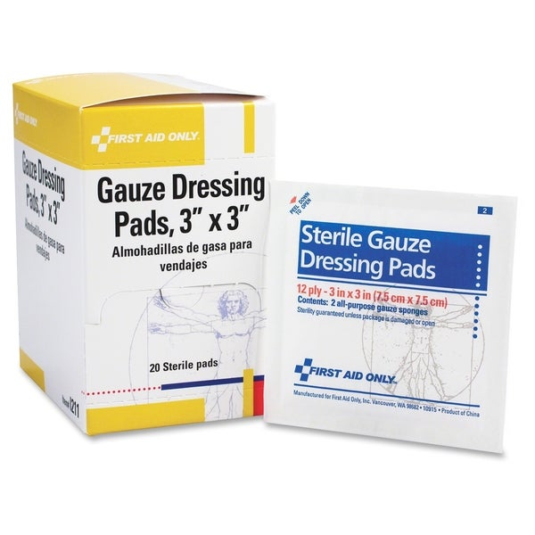 First Aid Only Gauze Dressing Pads