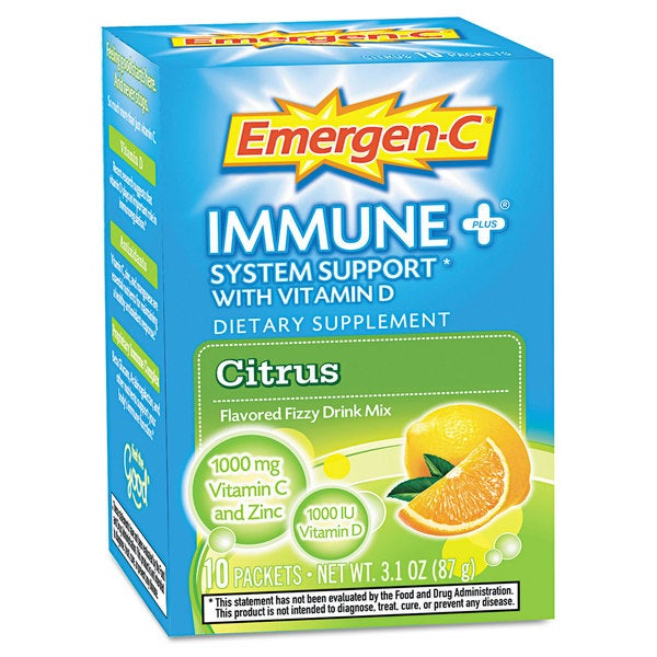 Emergen-C Immune+ Formula Citrus Dietary Supplement (Pack of 10)