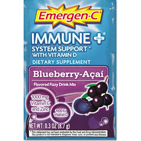 Emergen-C Immune+ Formula Blueberry Acai Flavored Drink Mix 0.3-ounce Packets (Pack of 30)