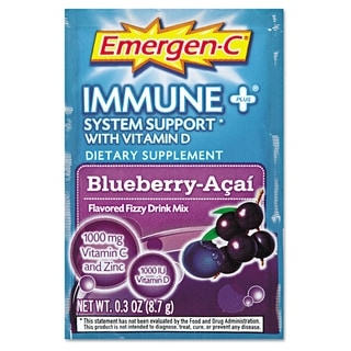 Emergen-C® Immune+ Formula Blueberry Acai Flavored Drink Mix 0.3-ounce Packets (Pack of 30)