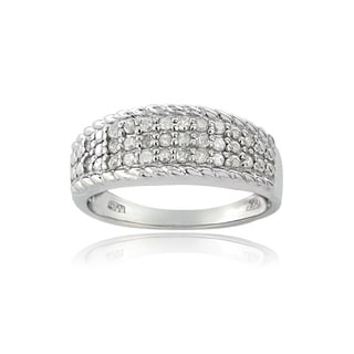 DB Designs Silvertone 1/4ct TDW Diamond Eternity Ring (I-J, I2-I3)