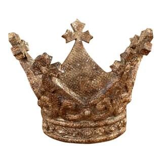Sage & Co 6.5-inch x 4.5-inch Resin Glitter Antque Crown
