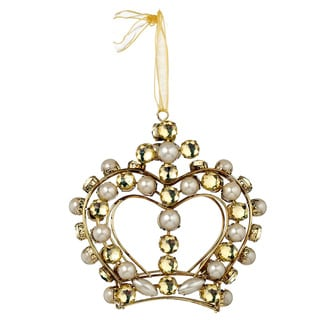 Sage & Co 5-inch x 1.625-inch x 5-inch Jeweled Crown Christmas Ornament (Pack of 6)