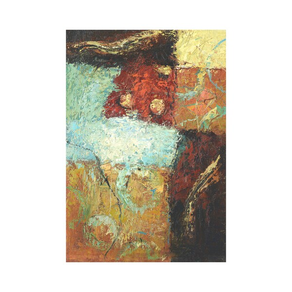 Mcvee 'White Swans Flying Over Open Water' Modern Contemporary Abstract Canvas Art