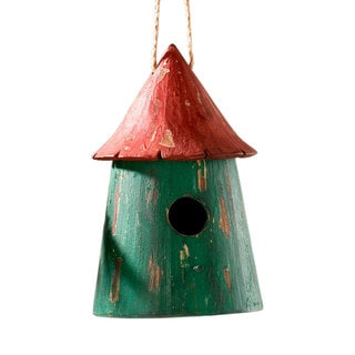 Sage & Co 7-inch x 11-inch Large Round Birdhouse Ornament (Pack of 4)