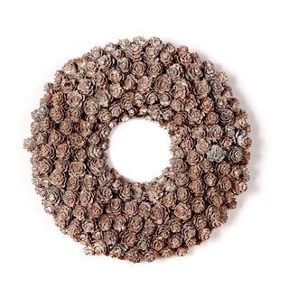 Sage & Co 8-inch Frosted Pine Cone Wreath (Pack of 6)