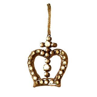 Sage & Co 4.75-inch Antique Jewel Crown Ornament (Pack of 12)