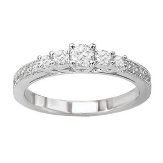 Avanti 14k White Gold 1/2ct TDW Diamond Five Stone Engagement Ring (G-H, Si1-SI2)