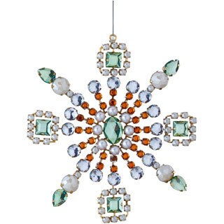 Sage & Co 7-inch Gem Snowflake Christmas Ornaments (Pack of 8)