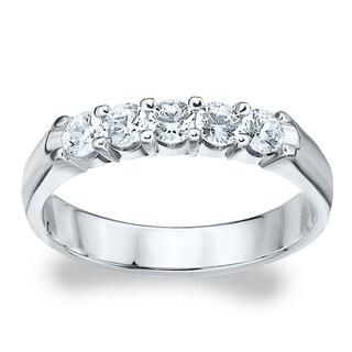 Amore Platinum 1/2ct TDW Diamond Wedding Band (G-H, SI1-SI2)