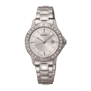 Seiko Women's SUR853 Stainless Steel and Crystal Watch