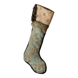 Sage & Co 23-inch Stocking Patina Jacquard Embroidery Bees