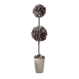 Sage & Co 27-inch Frosted Pinecone Topiary