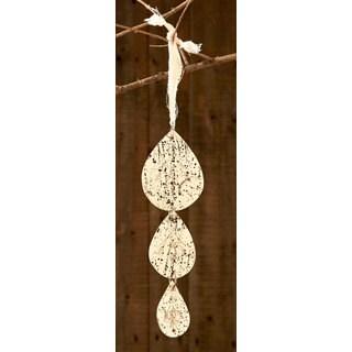 Sage & Co Etched Antique Mirror Drop Christmas Ornament