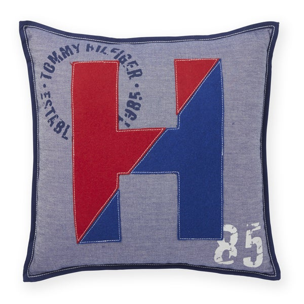 Tommy Hilfiger Applique Logo Throw Pillow