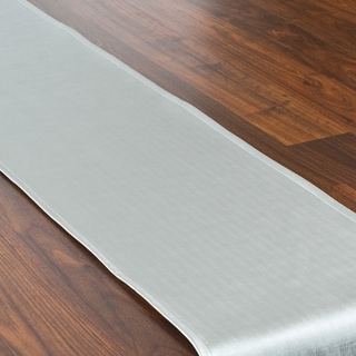 Shimmer Silver Topstitched Table Runner