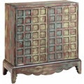 Johanna Scalloped Apron Weathered Accent Cabinet