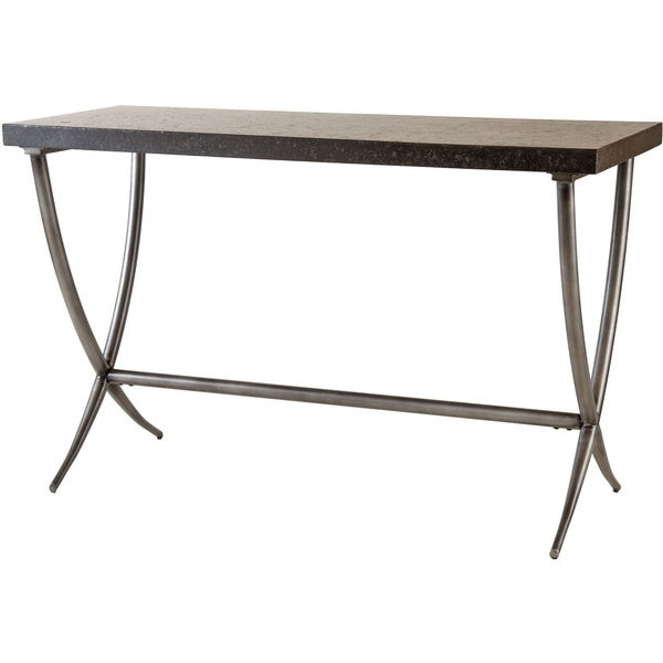 Metal Console Table : Valencia Bantera Stone and Metal Console Table - 16832925 - Overstock ...