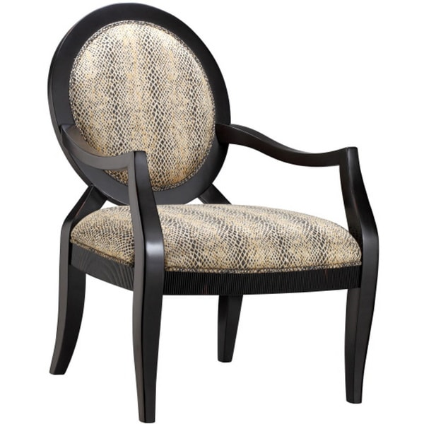 Siskin Python Pattern Fabric Occasional Chair