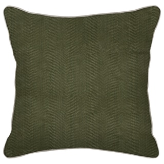 Geneva Leaf Green-20-inch Feather and Down Filled Decorative Pillow