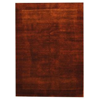 Herat Oriental Indo Hand-knotted Gabbeh Purple/ Ivory Wool Rug (5'10 x 7'9)