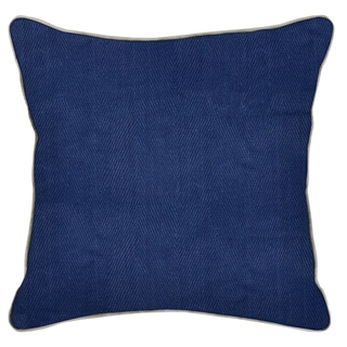 Geneva Blue-20-inch Feather and Down Filled Decorative Pillow