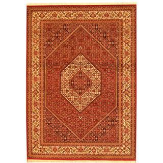 Herat Oriental Indo Hand-knotted Bidjar Red/ Ivory Wool Rug (5'7 x 7'10)