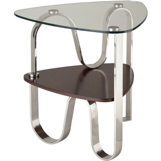 Tribeca Glass-top Urban End Table