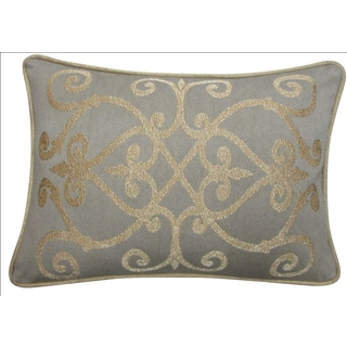 Heritage Gold Feather and Down Filled Decorative Pillow