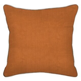 Geneva Mustard Mandarin 20-inch Feather and Down Filled Decorative Pillow