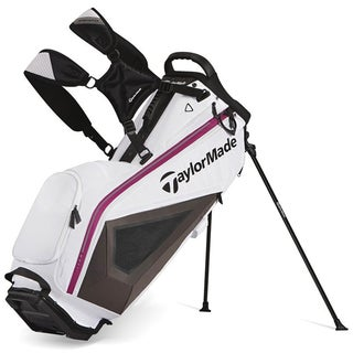 TaylorMade PureLite White/ Black/ Purple Golf Stand Bag