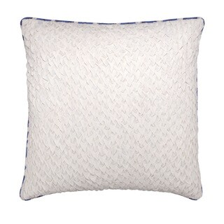 Mela Artisans Blue Large Cotton Pillow (India)