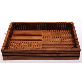 Mela Artisans Sehsam Wood Tray, small (India)