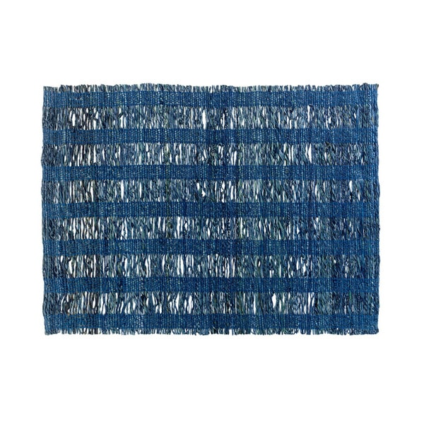Mela Artisans Blue Banana Fiber Placemat (India)