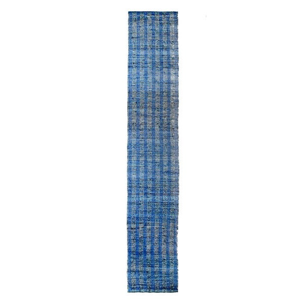 Mela Artisans Blue Banana Fiber Runner (India)