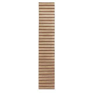 Mela Artisans Brown Stripe Banana Fiber Runner (India)