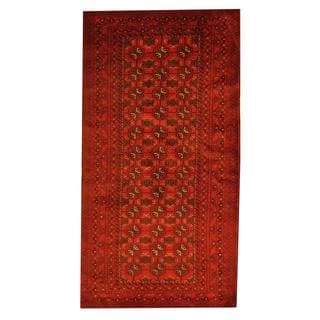 Herat Oriental Afghan Hand-knotted Tribal Semi-antique Balouchi Red/ Brown Wool Rug (3'5 x 6'5)