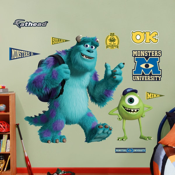 Fathead Monsters U Mike and Sulley Wall Decals