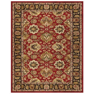 Wakefield Red Black Wool and Cotton Oriental Area Rug (2' x 3')