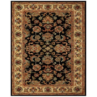 Feizy Wakefield Black Gold Wool and Cotton Oriental Area Rug (2' x 3')