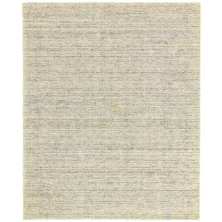 Bradley Mist Wool and Artsilk Solid Area Rug (9'6 x 13'6)